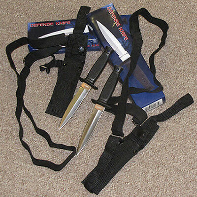 Qty 2) UNDERCOVER Military Style Throwing Knives KNIFE w/Shoulder Harness