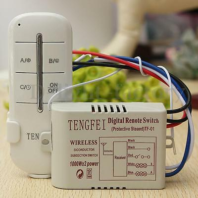 Wireless 1/2/3/4 Channel ON/OFF Lamp Remote Control Switch Receiver Transmitter
