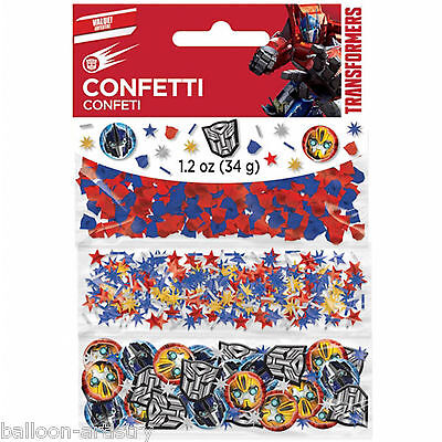 Transformers Optimus Prime Bumblebee Party Confetti Sprinkles Triple Pack