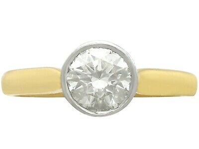 1.28ct Diamond & 18ct Yellow Gold 18ct White Gold Set Solitaire Ring Size P