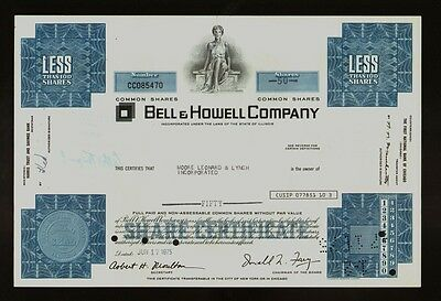 Bell & Howell Company IL ( Camera & Projector Makers ) iss Moore Leonard & Lynch