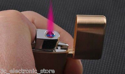 Slim Honest Jet Torch Flame Refillable Butane Cigar Cigarette Lighter Windproof