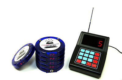 5 Digital Restaurant Coaster Pager / Guest Table Waiting Paging System