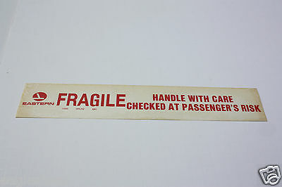Baggage Label - Eastern - Fragile - Handle With Care - Sticker - 1981 (BL519)