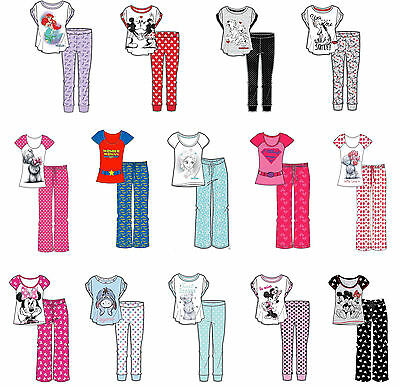 Ladies Girls Novelty Pyjama Pjs Wonder Woman Unicorn Minnie Tatty Size 8-22