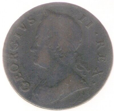 Great Britain Uk Coin 1/2 Penny 1746  Km 579.2  Vf-