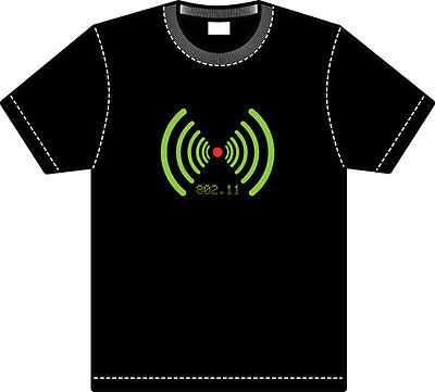 Led Funky Flashing Light Up T-Shirt Party Bar Pub Various Designs And Colours
