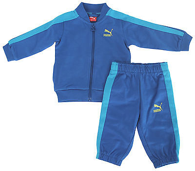 Puma Traditional Kids Blue Infant Boys Toddlers Tracksuit 822425 09 R24
