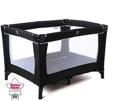 New Red Kite Infant Sleep Tight Jet Black Baby Portable Travel Cot & Playpen