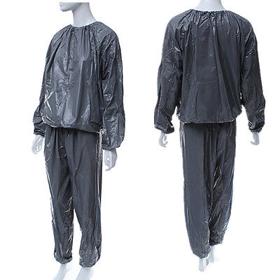 Unisex Gym Workout Exercise Fitness Sauna Sweat Suit Slimmer Slim Weight Loss US