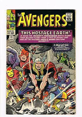 Avengers # 12  This Hostage Earth ! grade 7.5 movie scarce hot book !!