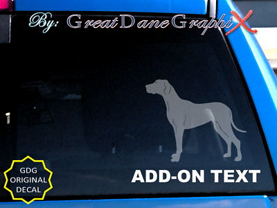 """ADD-ON"" Personalized Text, Name, Breed etc. Vinyl Decal Sticker"
