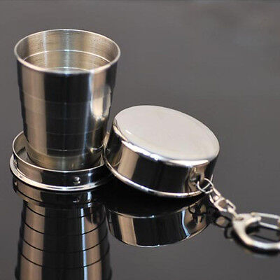 Steel Travel Telescopic Collapsible Shot Glass Emergency Cup Nice Gift