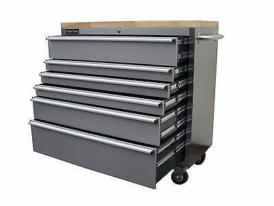 """127 Us Pro Tools Roller Cabinet Tool Chest Box Stainless Steel 42"""" Buy Finance"""