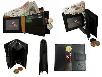 GENUINE REAL Leather Mens Mans Wallet Zip Up Coin Pouch Wallets Roamlite RL312AW