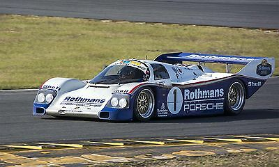 1986 Porsche 962 Rothmans Group C Vintage Classic Race Car Photo CA-1000