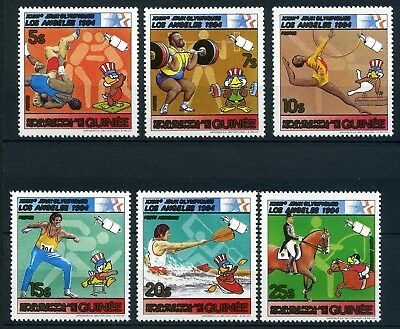 Guinea MiNr. 927-32 postfrisch/ MNH Olympiade 1984 (Oly691