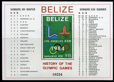 Olympiade 1984 Belize Block 37 a postfrisch (Oly55