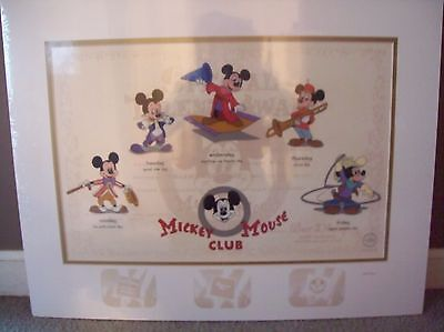 "Disney Mickey Mouse Club Sericel "" Hi Mouseketeers!"" Deluxe Edition LE 150"
