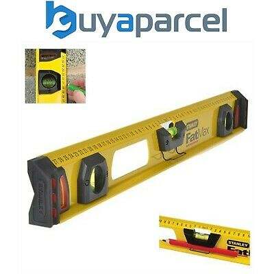 Stanley STA143553 1-43-553 FatMax I Beam Level 3 Vial 60cm Spirit Level