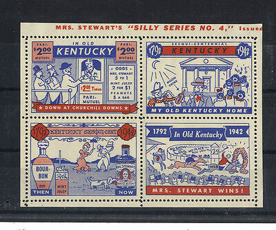 Bloc De 4 Vignettes In Old Kentucky Churchill Mrs Stewart