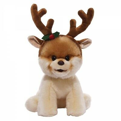Itty Bitty Boo with Reindeer Antlers - Worlds Cutest Dog - Christmas Soft Toy