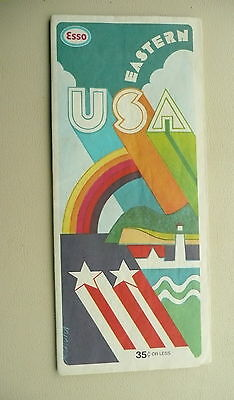 1975 Eastern United States  map Esso oil