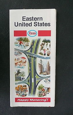 1969 Eastern United States road  map Esso oil gas