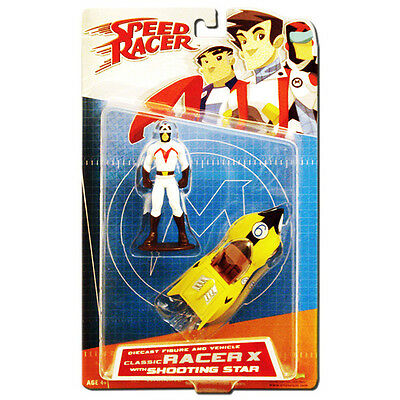 Speed Racer Die Cast Classic Racer X & Shooting Star Figure - Art Asylum