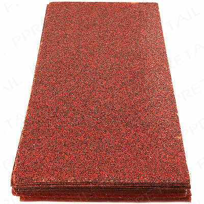 LARGE PACK OF 30 SANDING SHEETS 40/60/80/120 GritCoarse-Fine Glass/Sandpaper