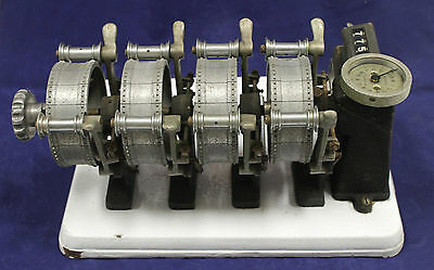 Antique Museum Quality Neumade 35mm FILM  4 Gang Synchronizer and Counter L@@K