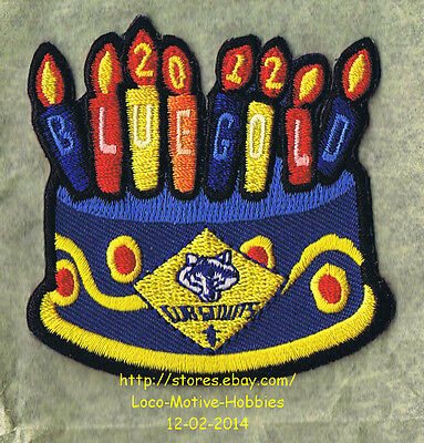 LMH PATCH Badge  2012 BOY CUB SCOUTS  Blue Gold BSA Birthday Cake Ideas Candles