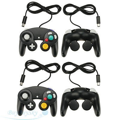 4PCS NEW Black Controller for Nintendo Gamecube System Console Wii Control Pad