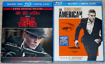 Action Blu-ray Lot - Public Enemies (Used) The American (Used)