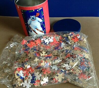 Coca Cola Tin with Puzzle Inside ~ New Never Opened!