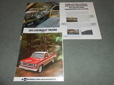 1973 CHEVROLET C/K 10-20-30 PICKUP TRUCK 18-Page BROCHURE 73 CHEVY SALES CATALOG