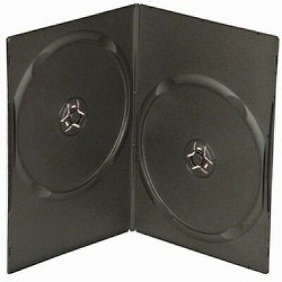 100 SLIM Black Double DVD Cases 7MM