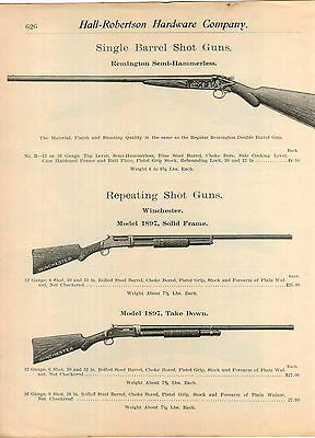1905 ADVERTISEMENT WINCHESTER Repeating Shotgun Model 1897 Solid Frame Take  Down