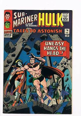Tales to Astonish # 76  Uneasy Hangs the Head !  grade 4.5 scarce hot book !!
