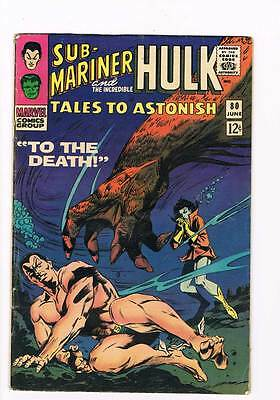 Tales to Astonish # 80  To the Death !  grade 5.0 scarce hot book !!