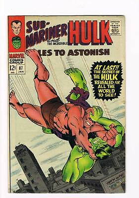 Tales to Astonish # 87  The Secret of the Hulk !  grade 5.0 scarce hot book !!