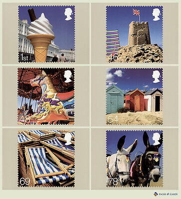 2007 Beside the Seaside PHQ 298 - Mint Cards Set of 6 Royal Mail Postcards