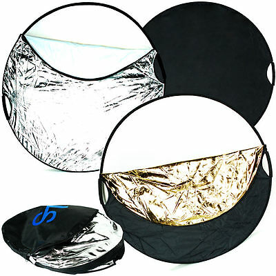 """110cm 43"""" New Handheld Light Multi Photo Reflector Collapsible Board Disc 5 in 1"""