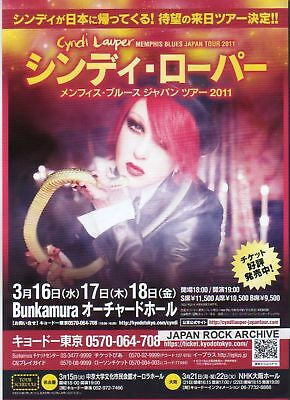 2011 Cyndi Lauper JAPAN tour concert flyer / mini poster / photo / japanese