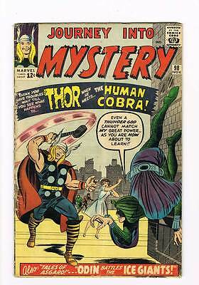 Journey into Mystery # 98 The Human Cobra ! grade 3.5 - movie scarce hot book !!