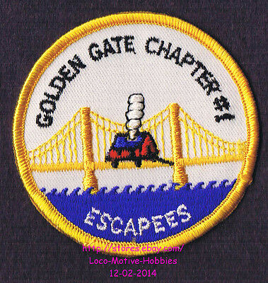 LMH PATCH Badge  GOLDEN GATE ESCAPEES RV CLUB Motor Mobile Home ESCAPADE Chapter