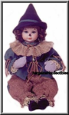 "Rare Htf Marie Osmond Baby Scarecrow Toddler 15"" Doll W/hat Wizard Of Oz Coa Nib"