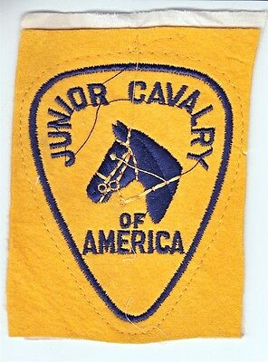 Vintage Junior Cavalry of America Patch - Youth Equestrian Organization