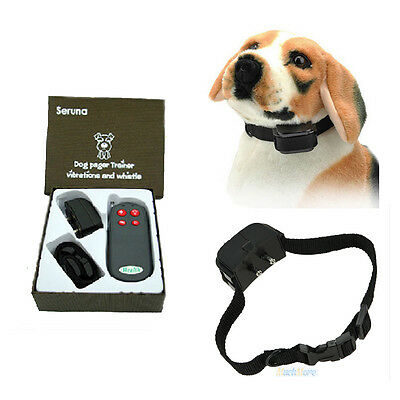 Pet Dog 4in1 Electric Remote Training No Barking Anti Bark Shock Vibrate Collar