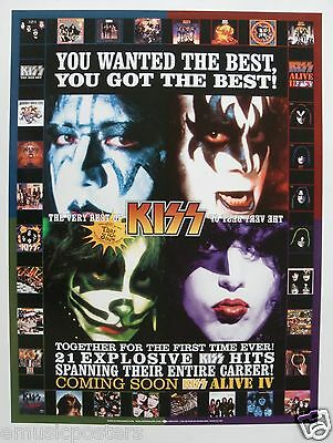 "KISS ""VERY BEST OF"" U.S. PROMO POSTER -Hard Rock, Metal Music"